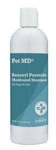 Pet MD Benzoyl Peroxide Medicated Shampoo for Dogs and Cats